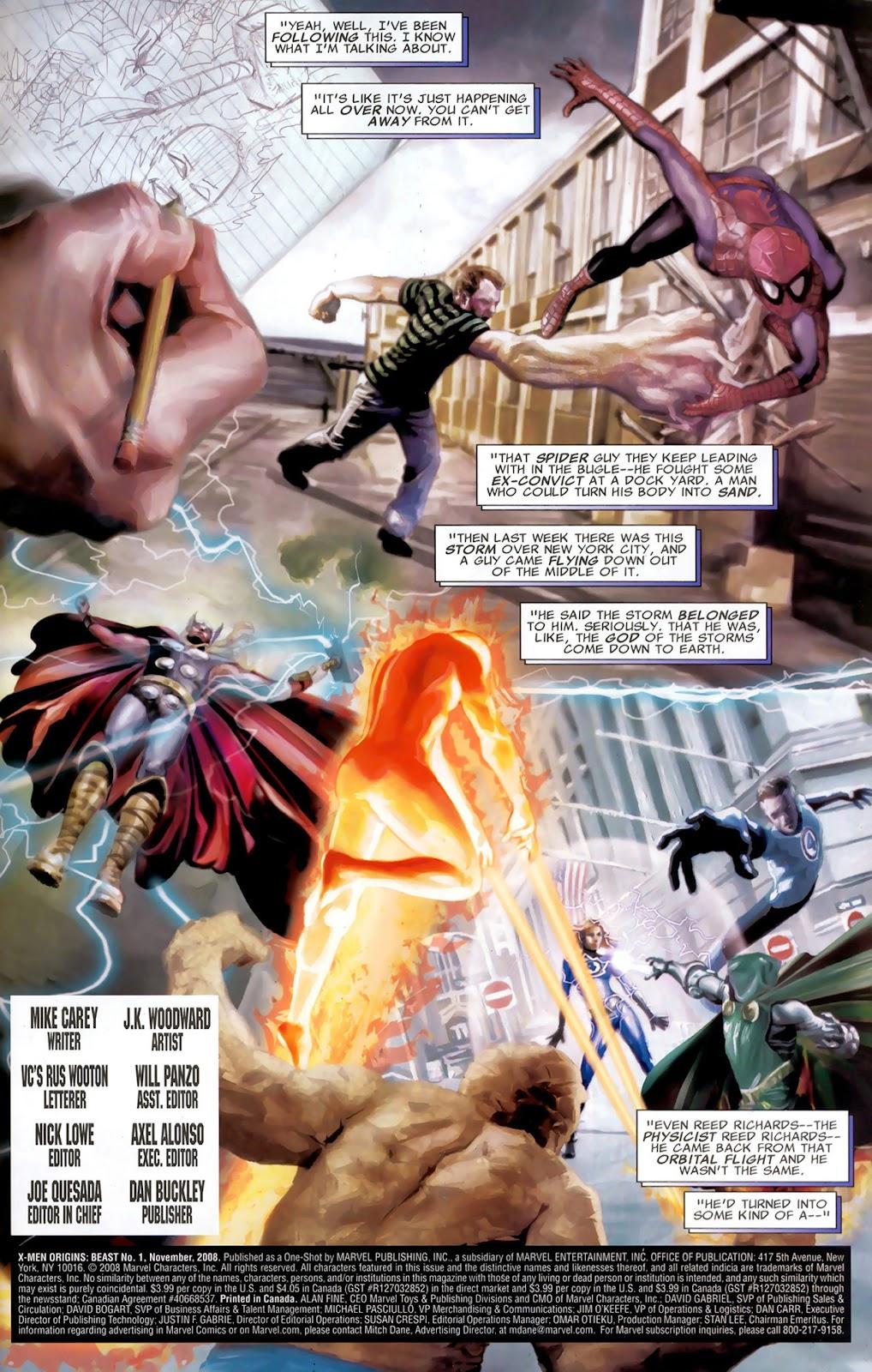 X-Men Origins: Beast issue Full - Page 2
