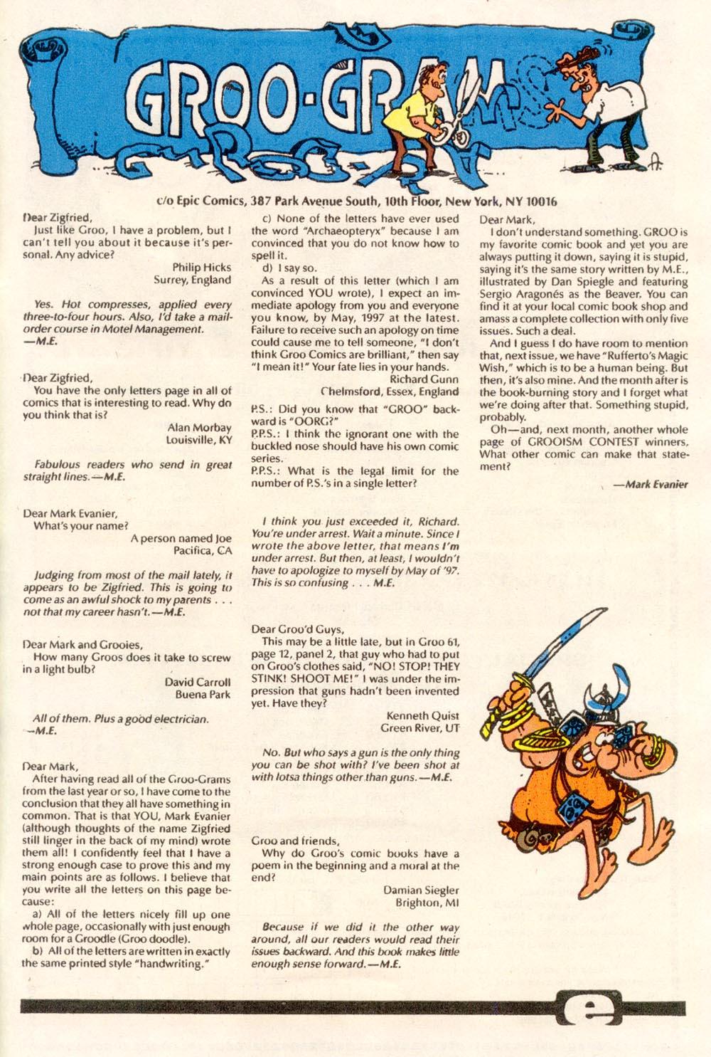 Read online Sergio Aragonés Groo the Wanderer comic -  Issue #76 - 24