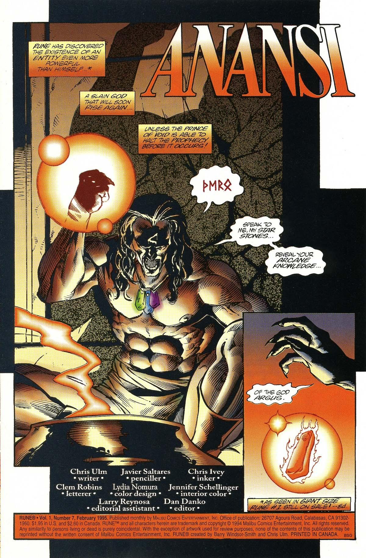 Read online Rune (1994) comic -  Issue #7 - 3