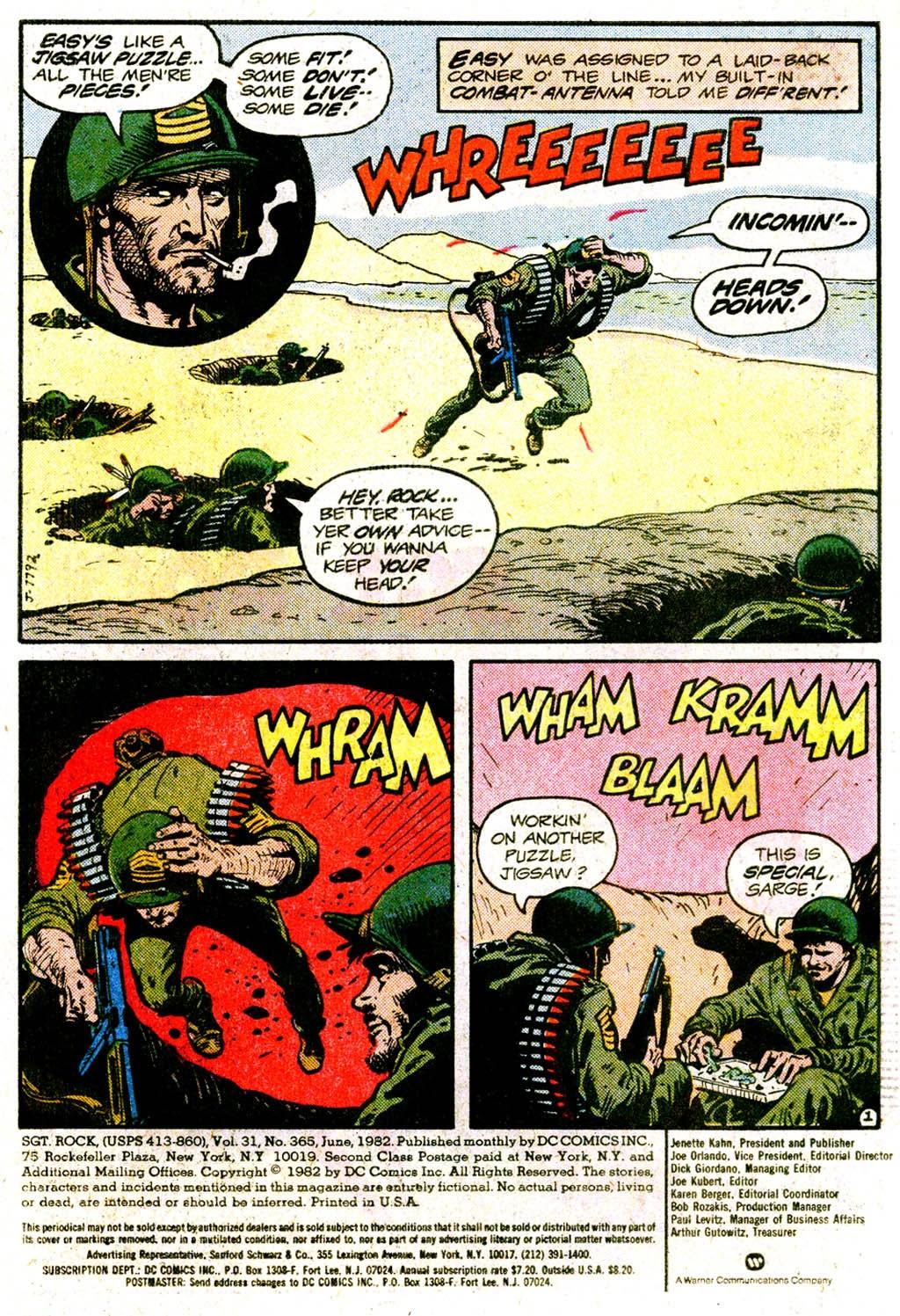 Read online Sgt. Rock comic -  Issue #365 - 3
