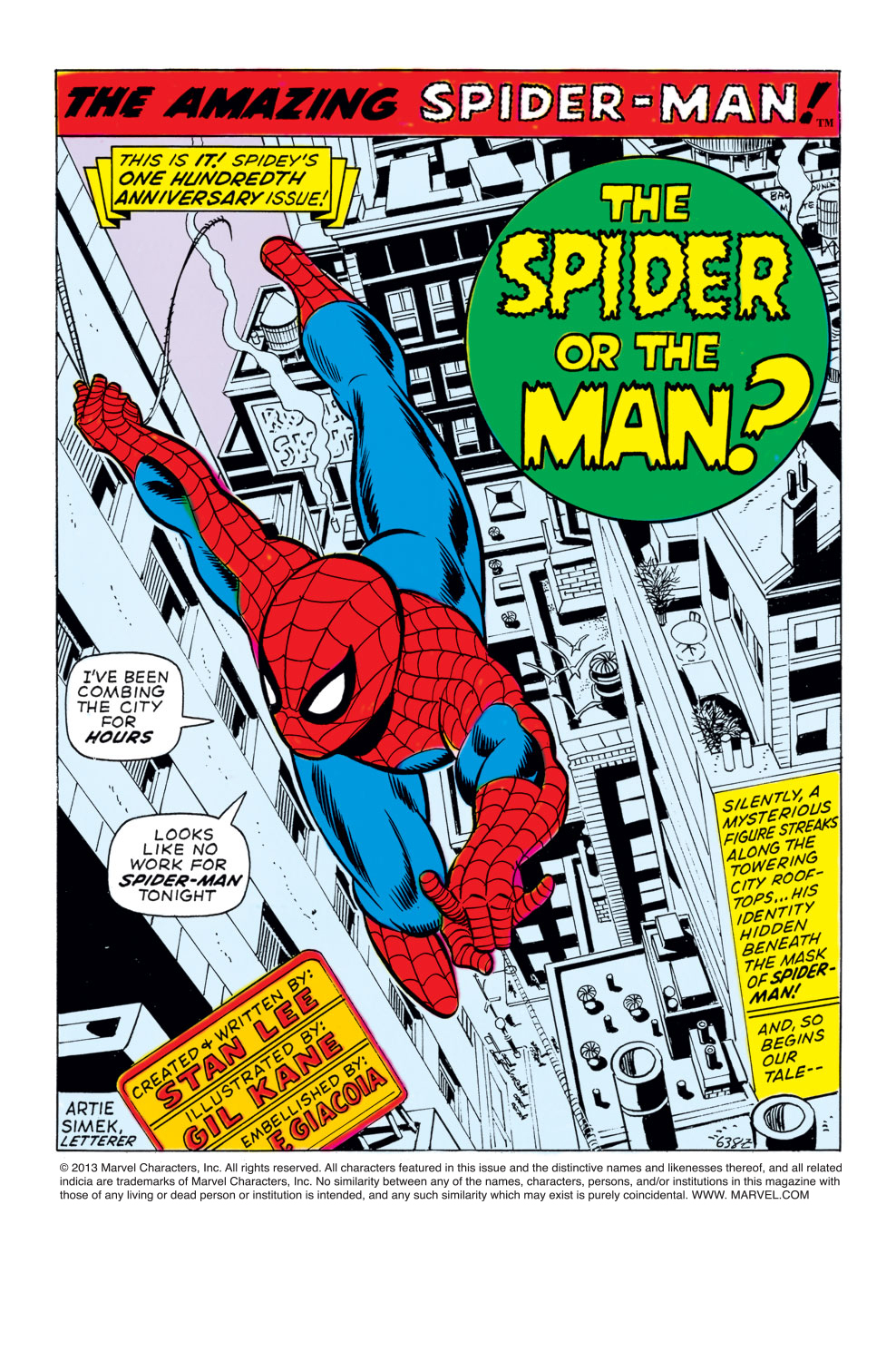The Amazing Spider-Man (1963) 100 Page 1