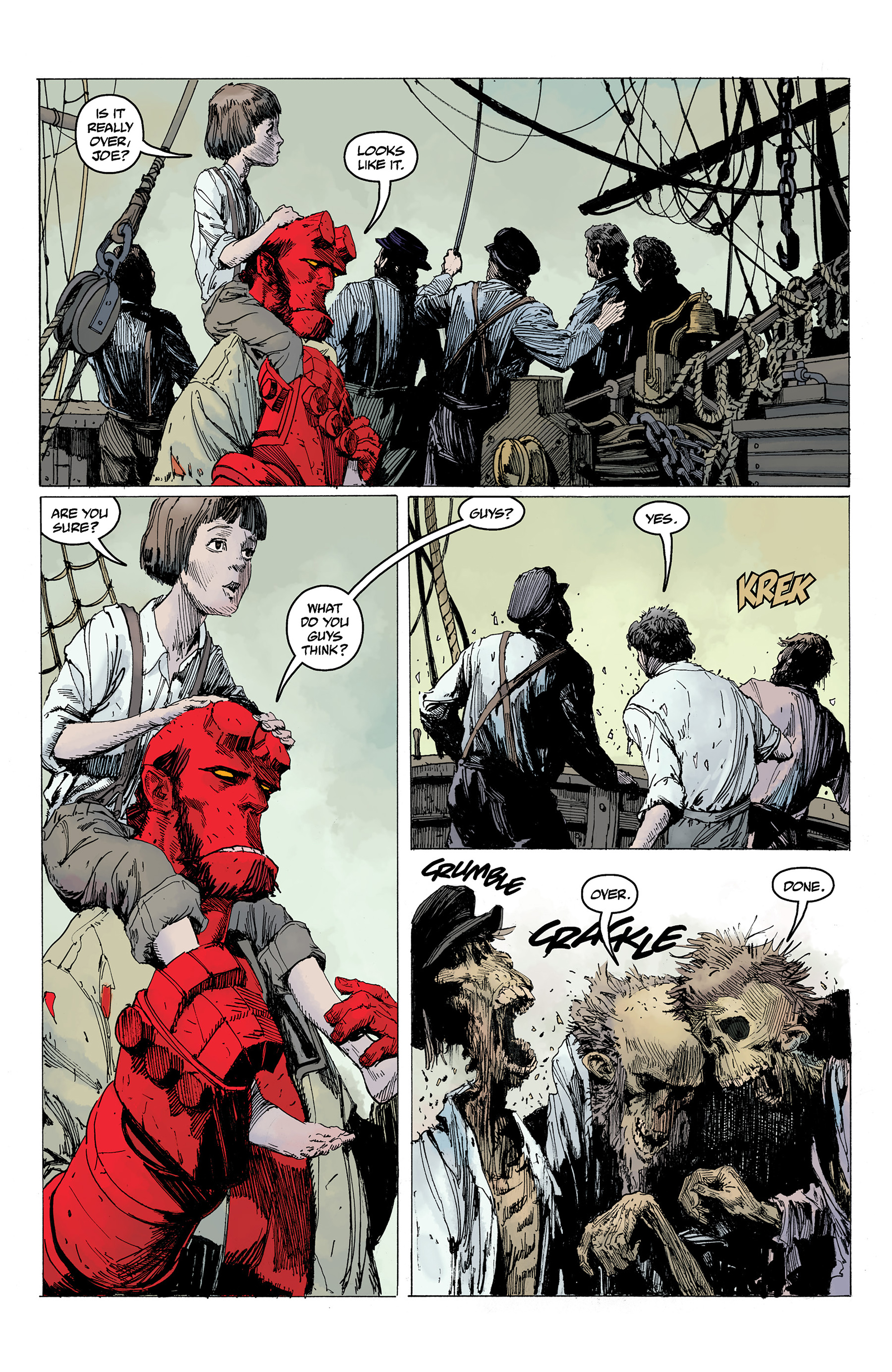 Read online Hellboy: Into the Silent Sea comic -  Issue # Full - 54