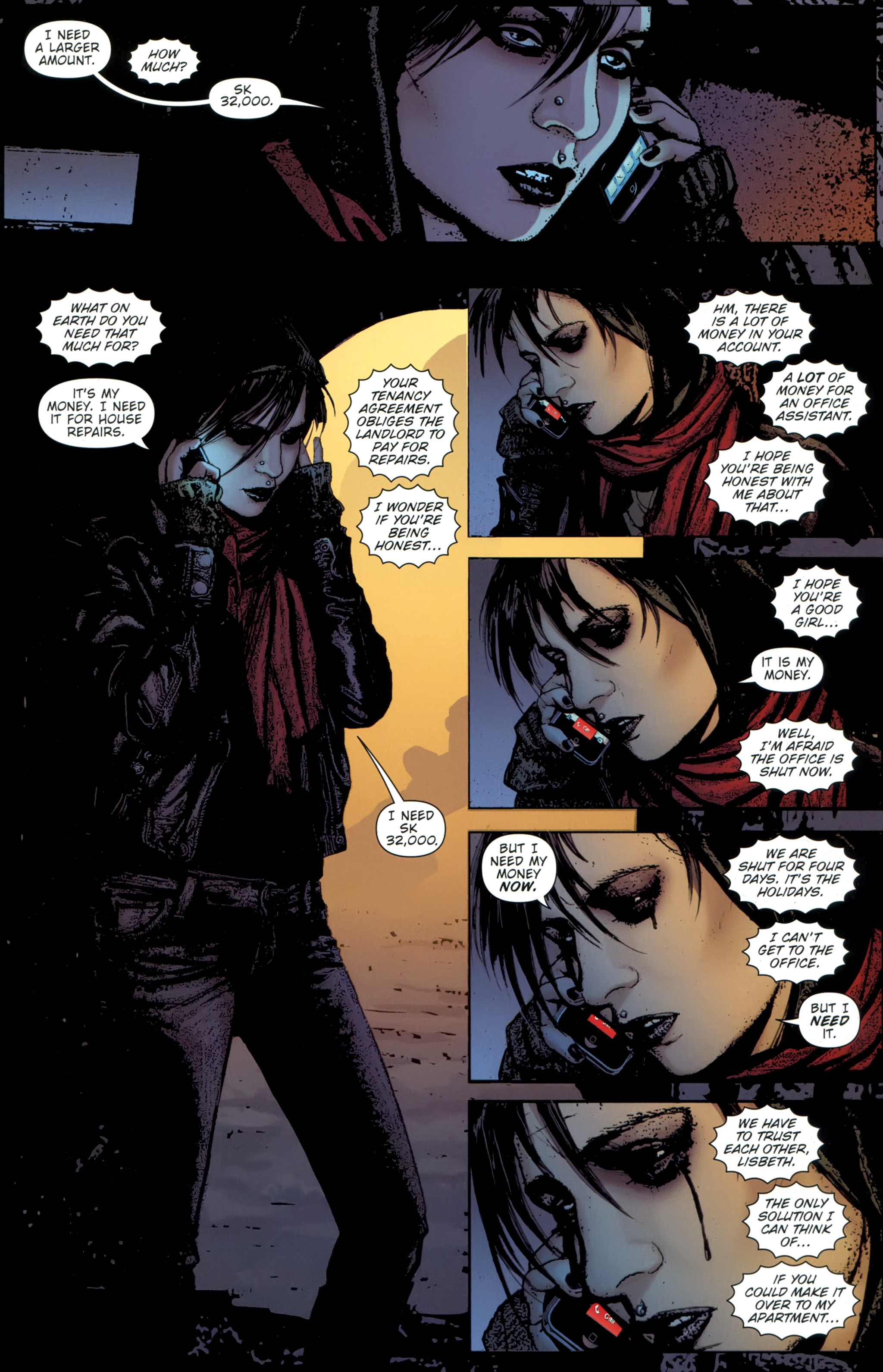 Read online The Girl With the Dragon Tattoo comic -  Issue # TPB 1 - 100