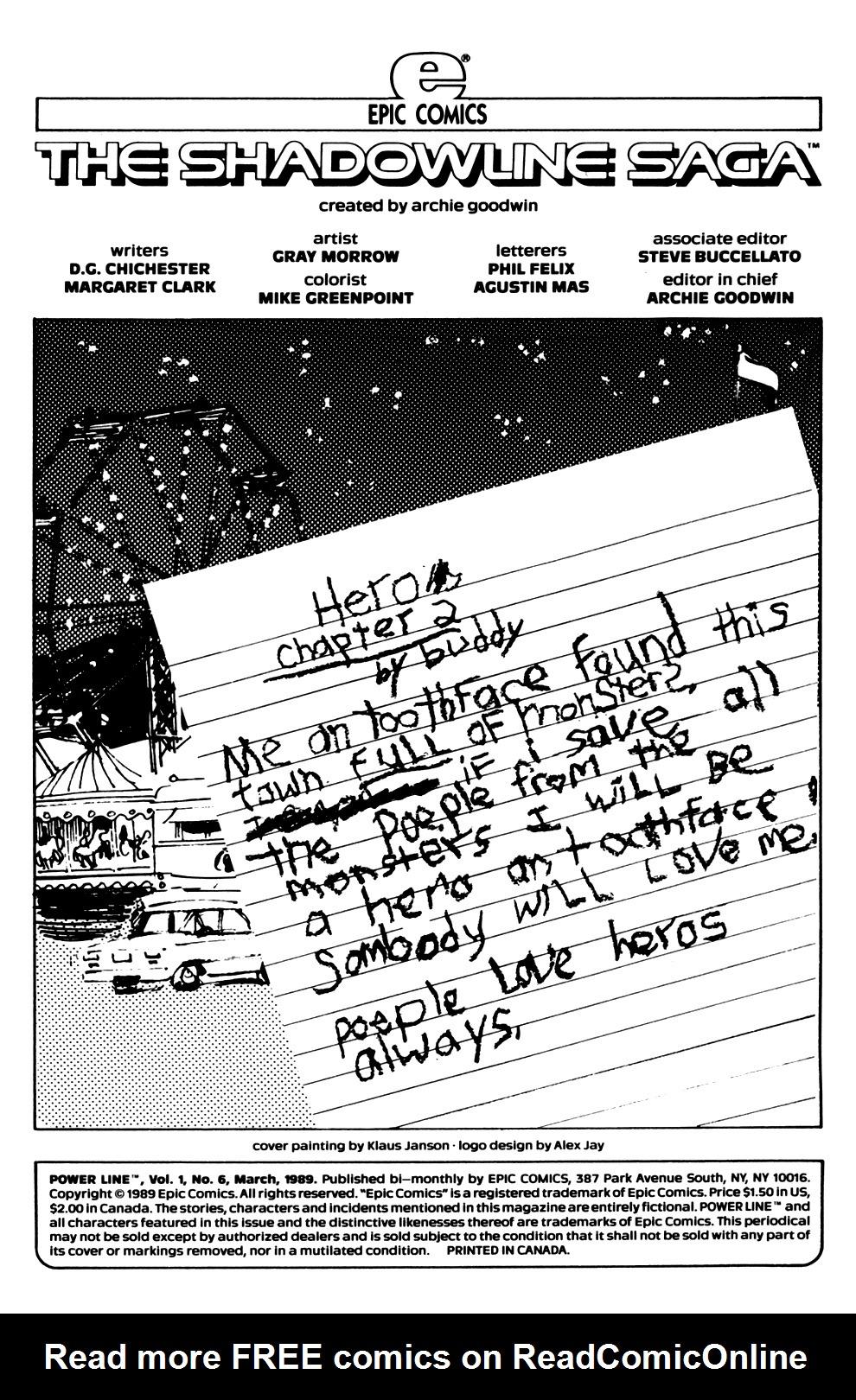 Read online Powerline comic -  Issue #6 - 2