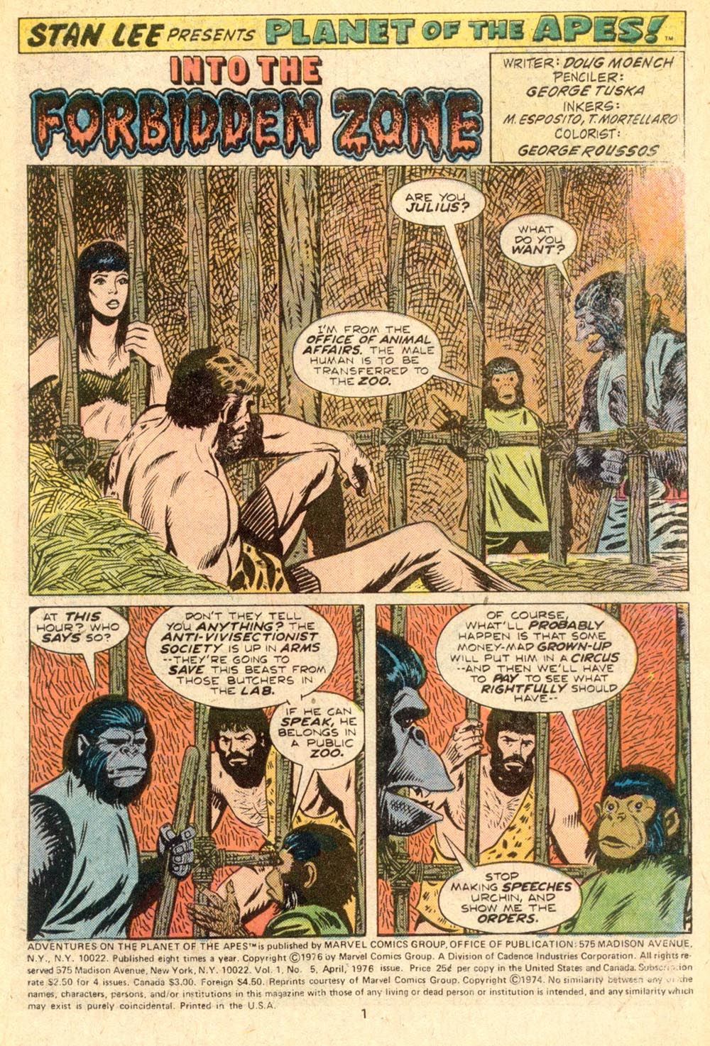 Read online Adventures on the Planet of the Apes comic -  Issue #5 - 2