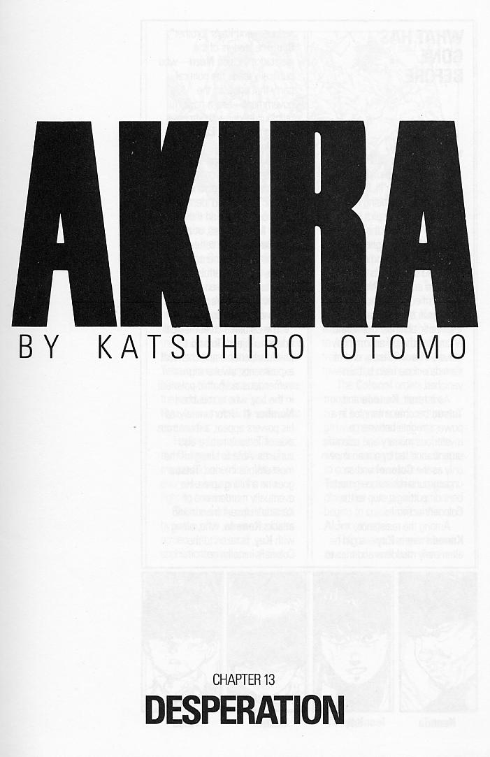 Read online Akira comic -  Issue #13 - 4