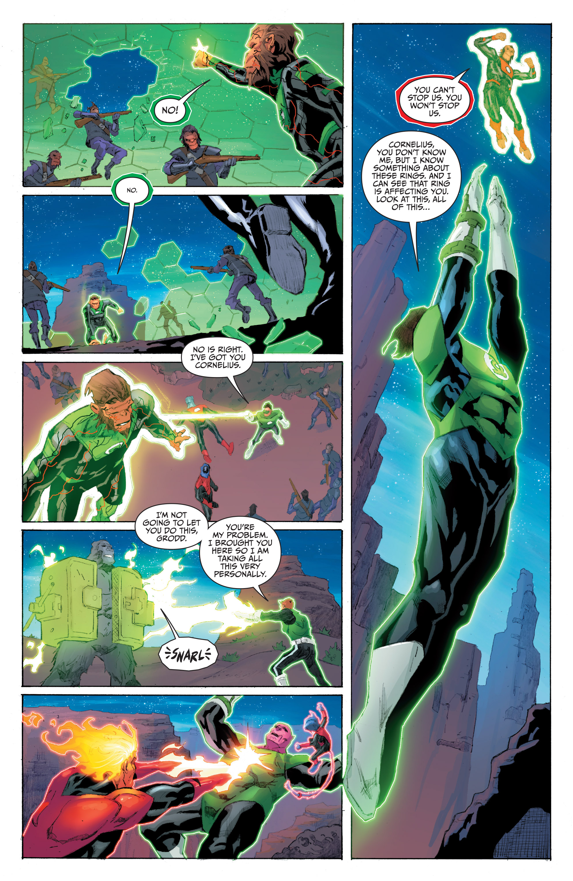 Read online Planet of the Apes/Green Lantern comic -  Issue #5 - 14
