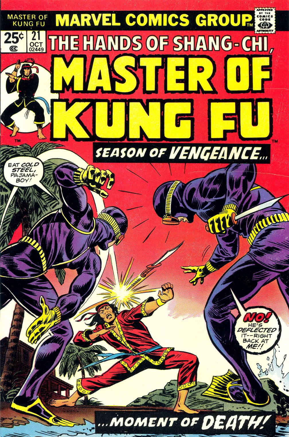 Master of Kung Fu (1974) issue 21 - Page 1