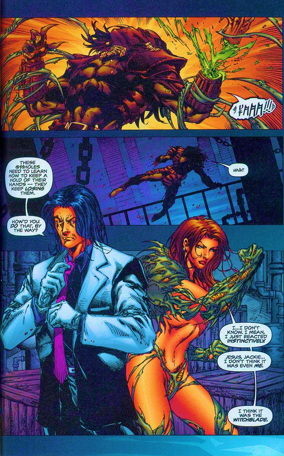 Read online Overkill: Witchblade/Aliens/Darkness/Predator comic -  Issue #2 - 12
