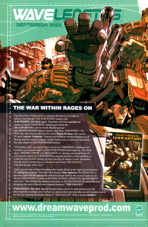 Read online Transformers Armada comic -  Issue #15 - 25