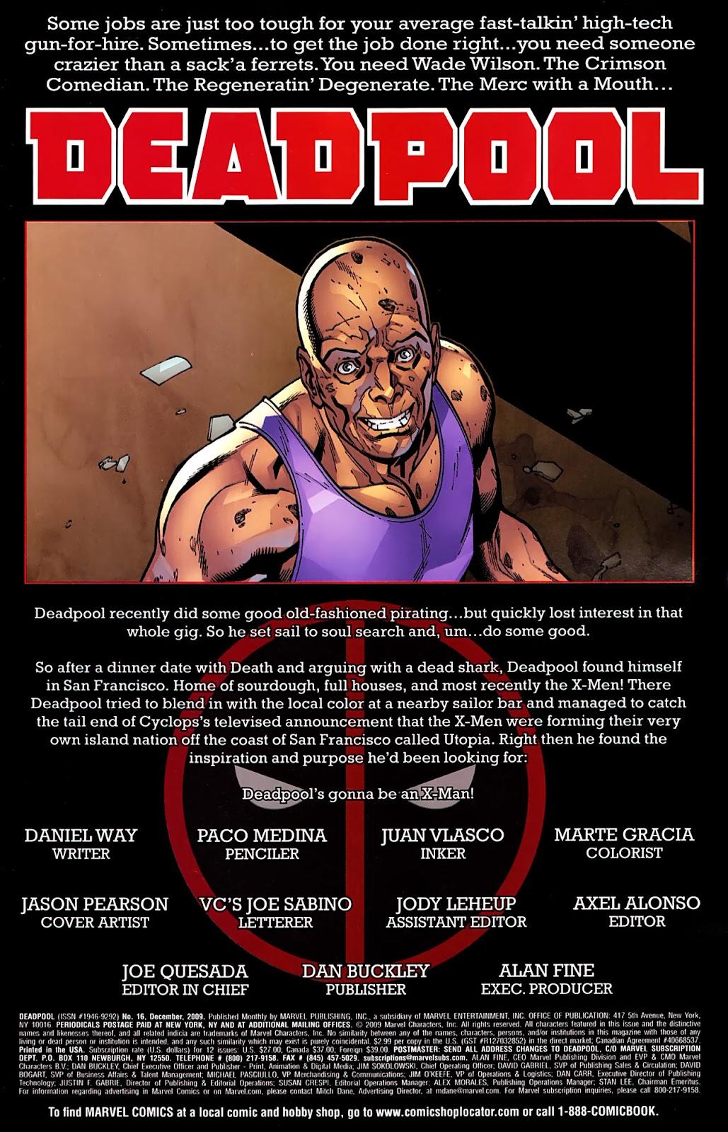 Read online Deadpool (2008) comic -  Issue #16 - 2
