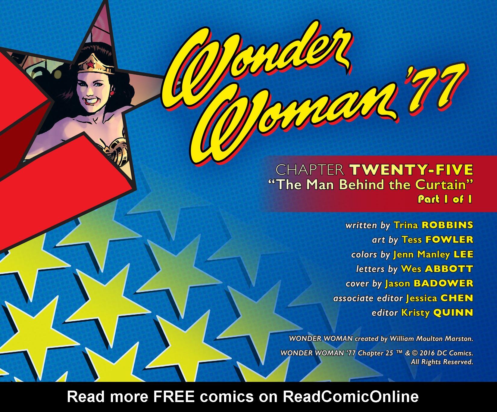 Read online Wonder Woman '77 [I] comic -  Issue #25 - 2