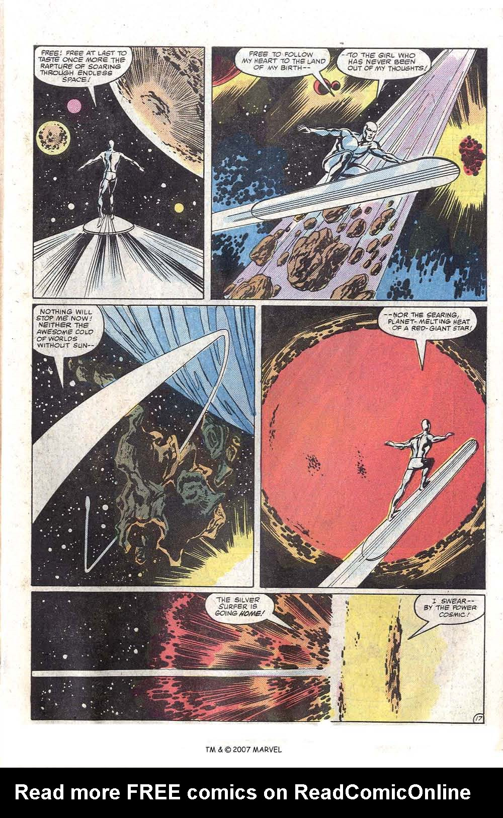 Read online Silver Surfer (1982) comic -  Issue # Full - 19