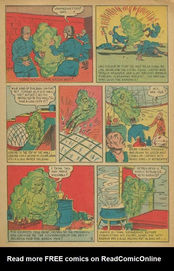 Read online Amazing Man Comics comic -  Issue #9 - 12