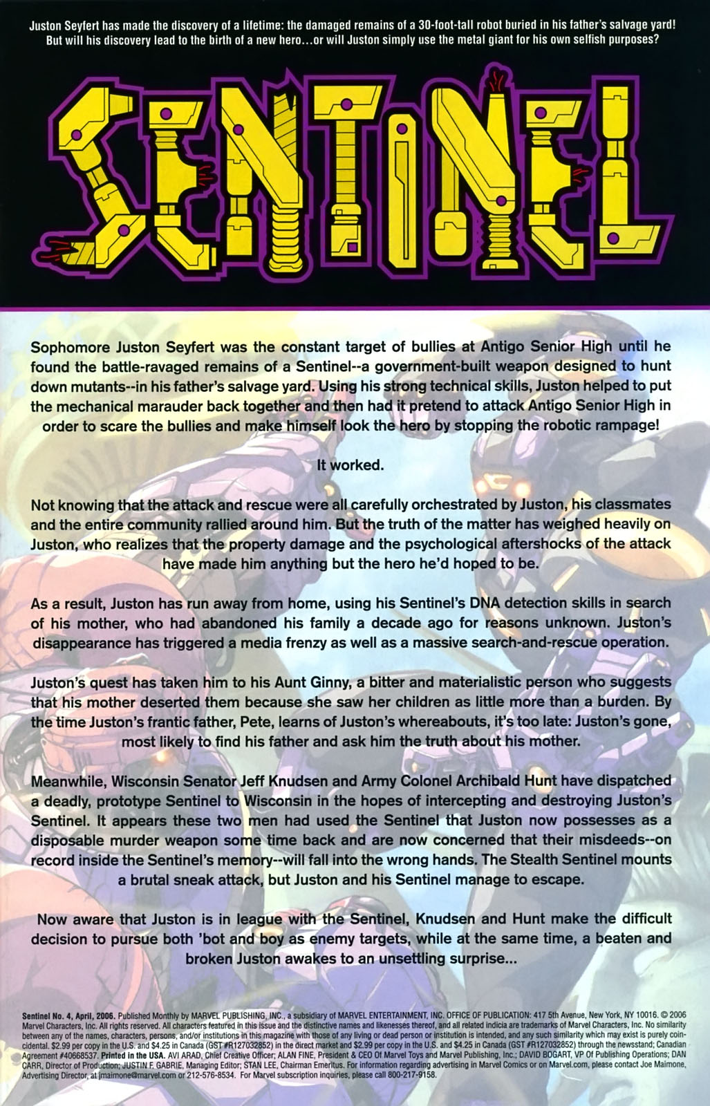 Read online Sentinel (2006) comic -  Issue #4 - 2