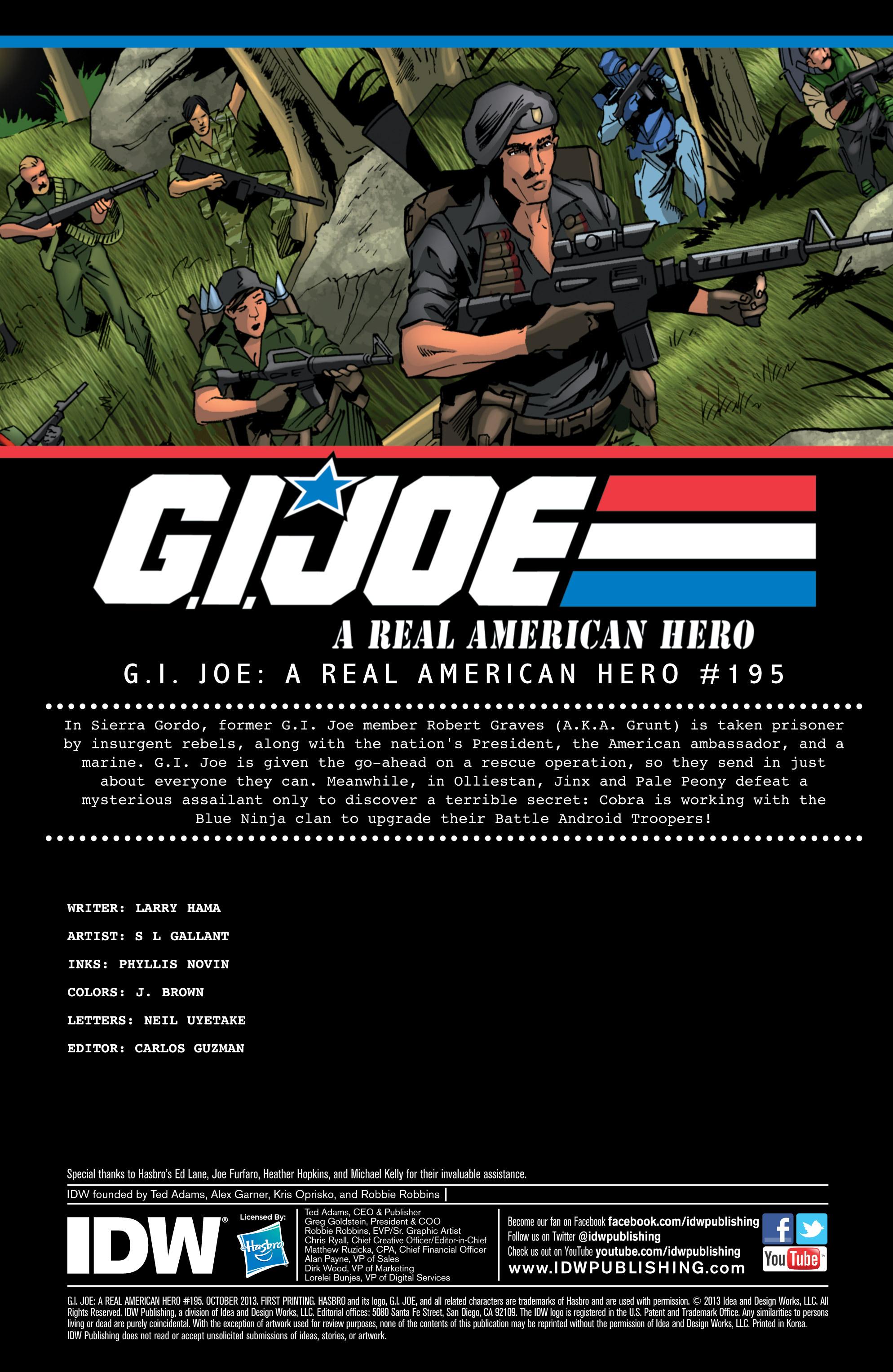 G.I. Joe: A Real American Hero 195 Page 1
