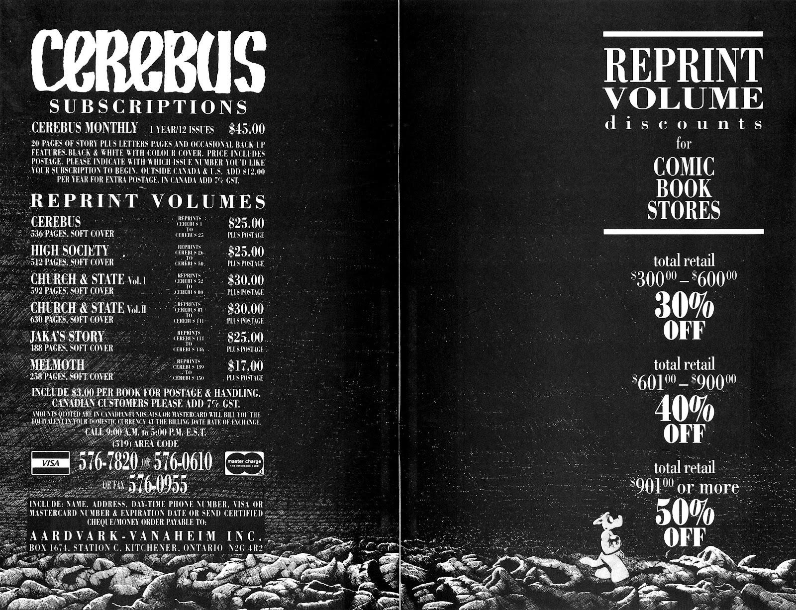 Cerebus Issue #163 #162 - English 32