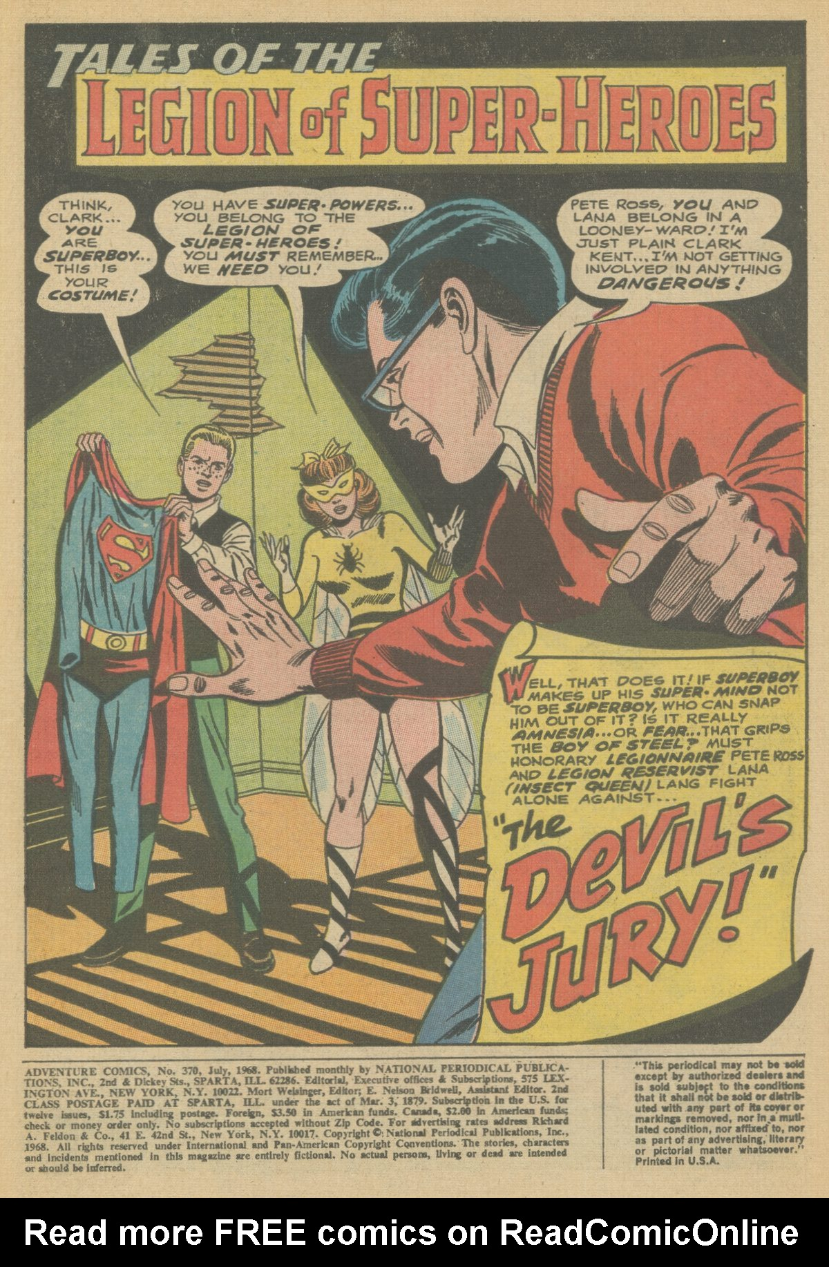 Read online Adventure Comics (1938) comic -  Issue #370 - 3