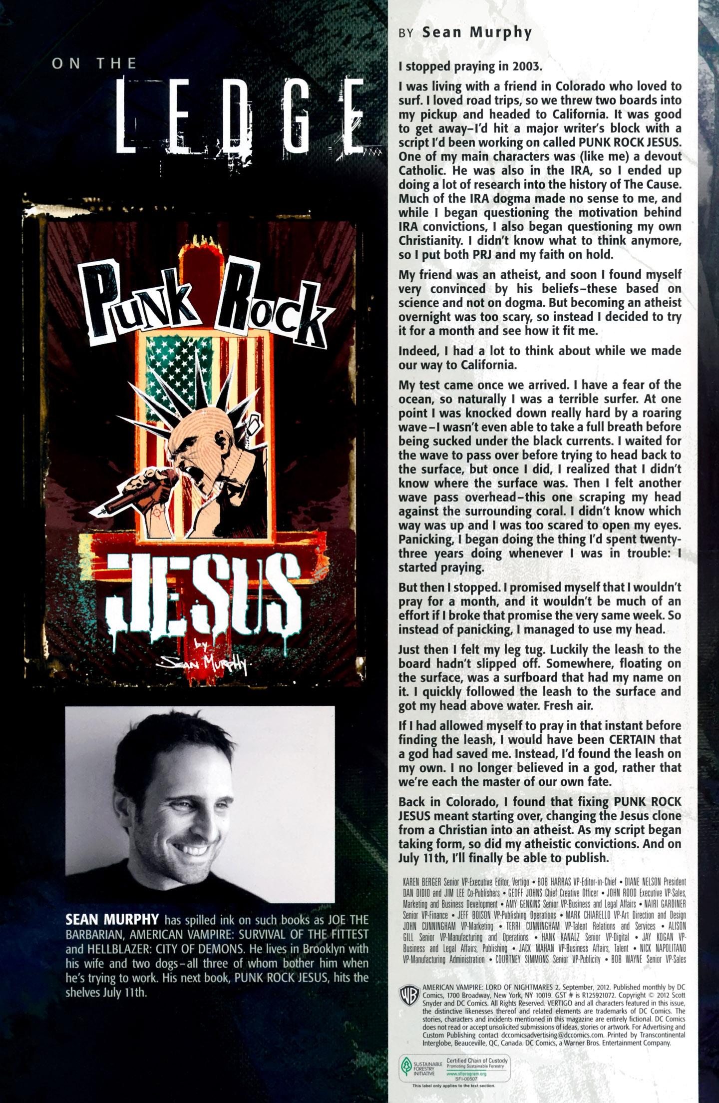 Read online American Vampire: Lord of Nightmares comic -  Issue #2 - 31