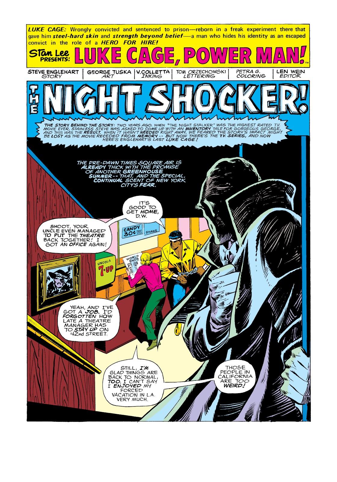 Read online Marvel Masterworks: Luke Cage, Power Man comic -  Issue # TPB 2 (Part 2) - 82