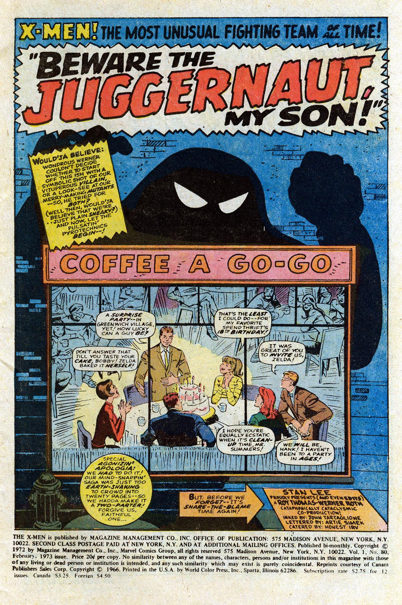 Uncanny X-Men (1963) 80 Page 2