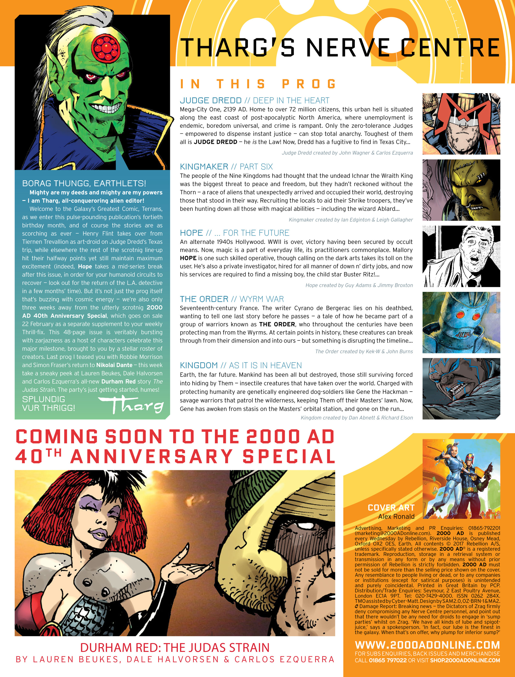 Read online 2000 AD comic -  Issue #2016 - 2