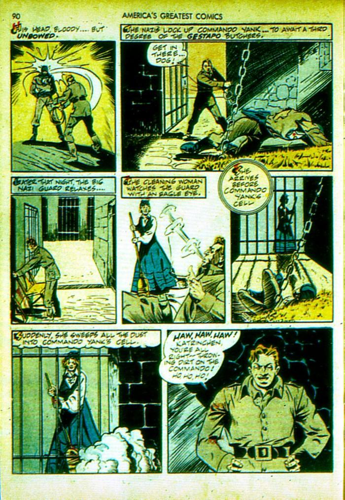 Read online America's Greatest Comics comic -  Issue #4 - 91
