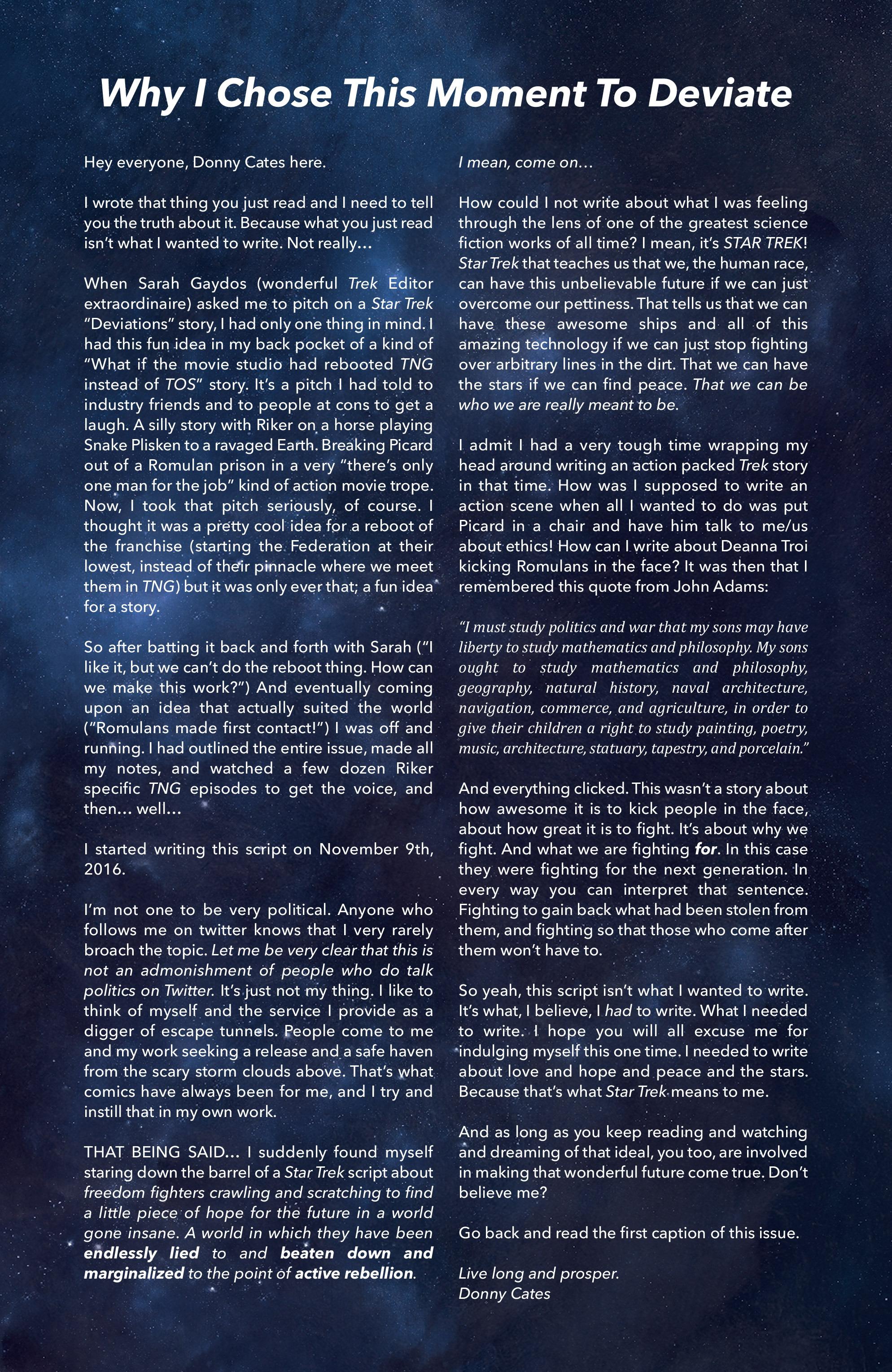 Read online Star Trek: Deviations comic -  Issue # Full - 28