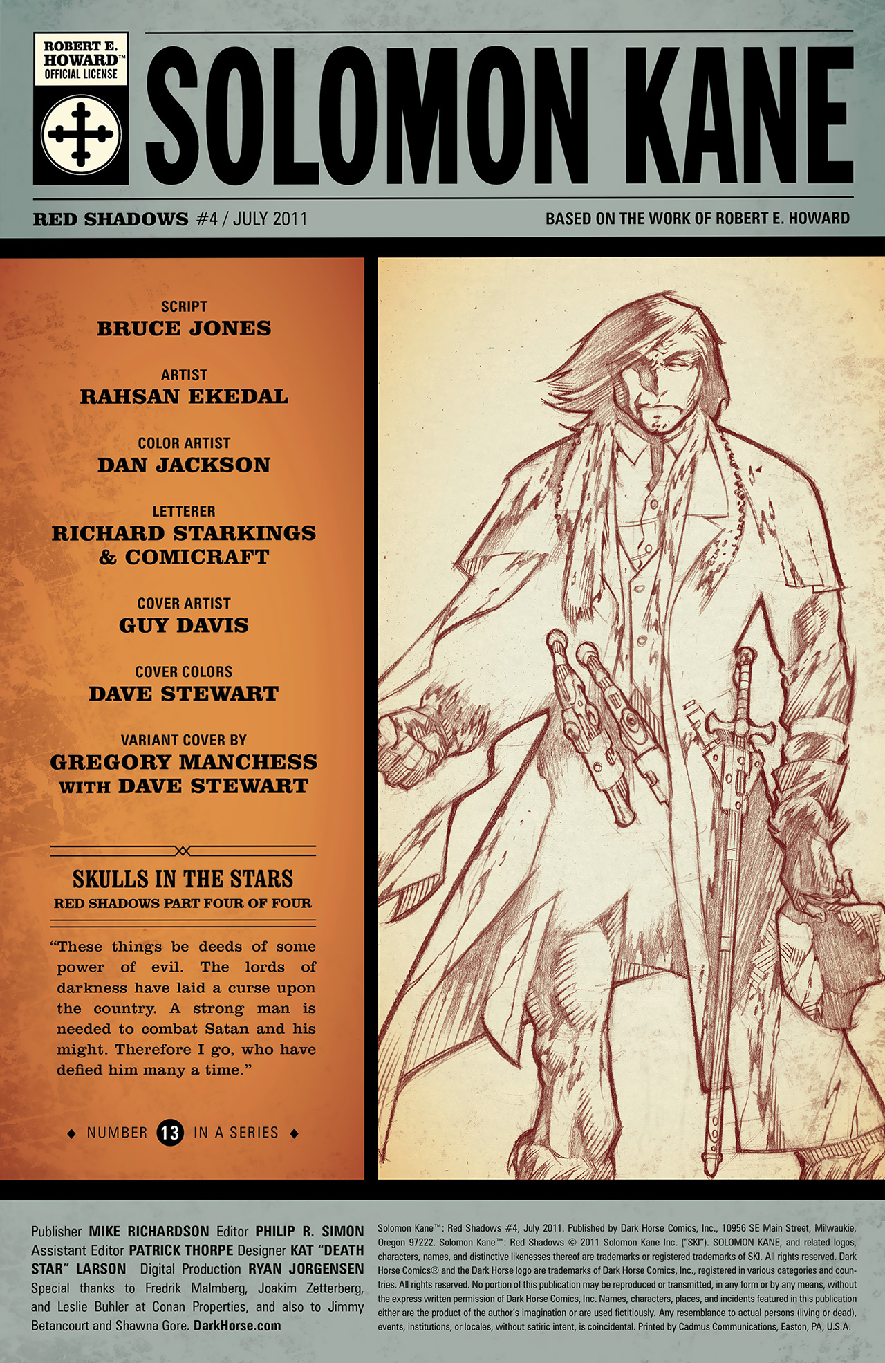 Read online Solomon Kane: Red Shadows comic -  Issue #4 - 3