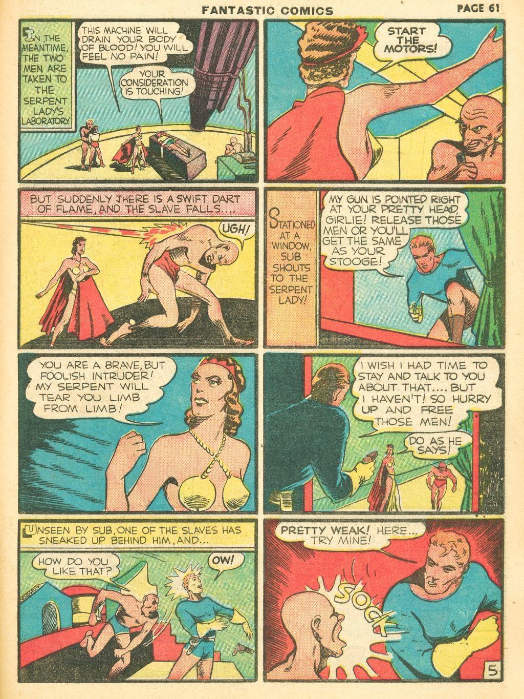 Read online Fantastic Comics comic -  Issue #12 - 63