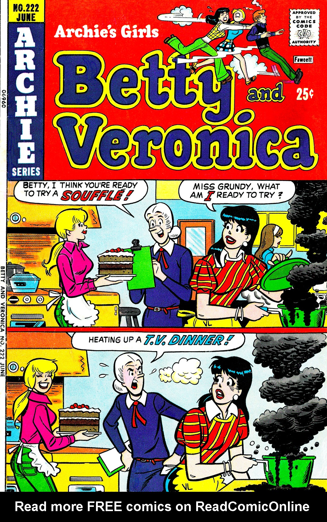 Read online Archie's Girls Betty and Veronica comic -  Issue #222 - 1
