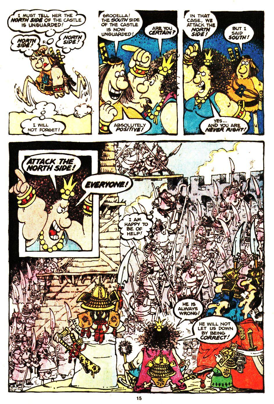 Read online Sergio Aragonés Groo the Wanderer comic -  Issue #20 - 15