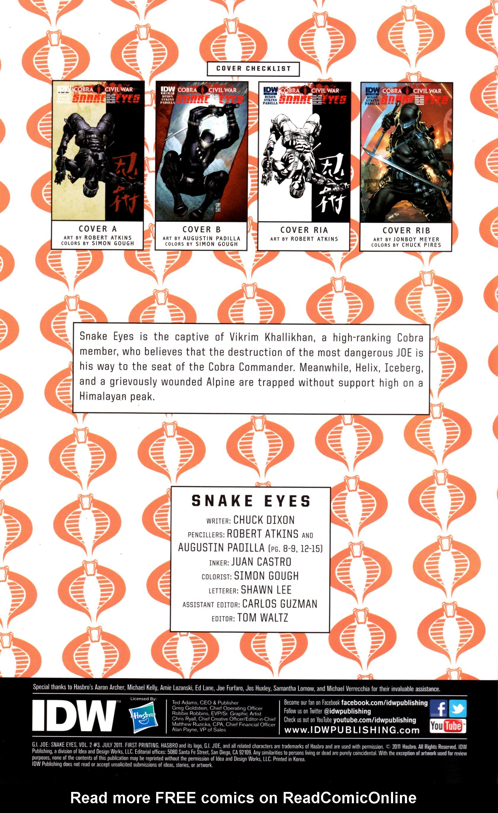Read online G.I. Joe: Snake Eyes comic -  Issue #3 - 3