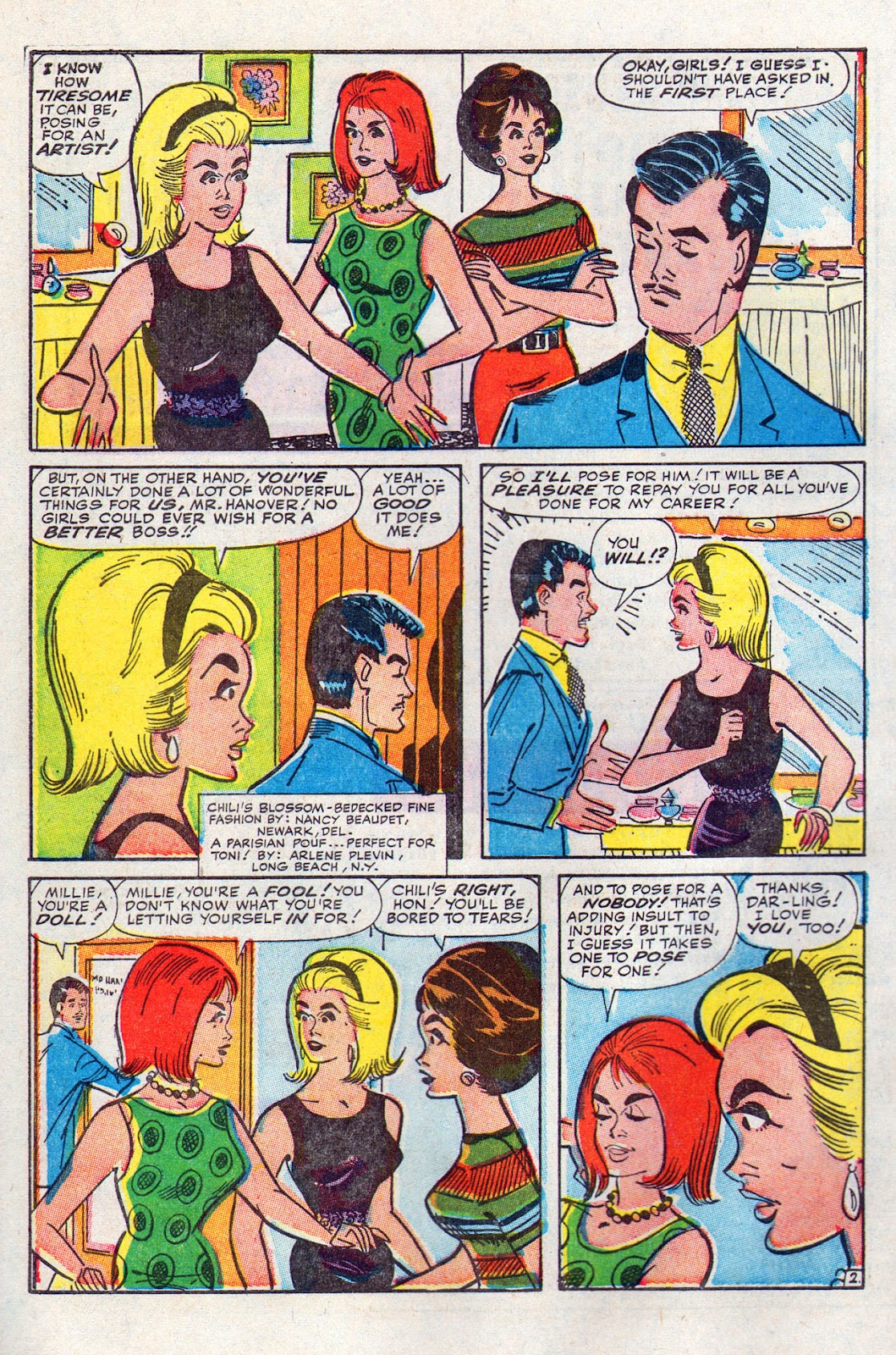 Read online Millie the Model comic -  Issue # Annual 6 - 62
