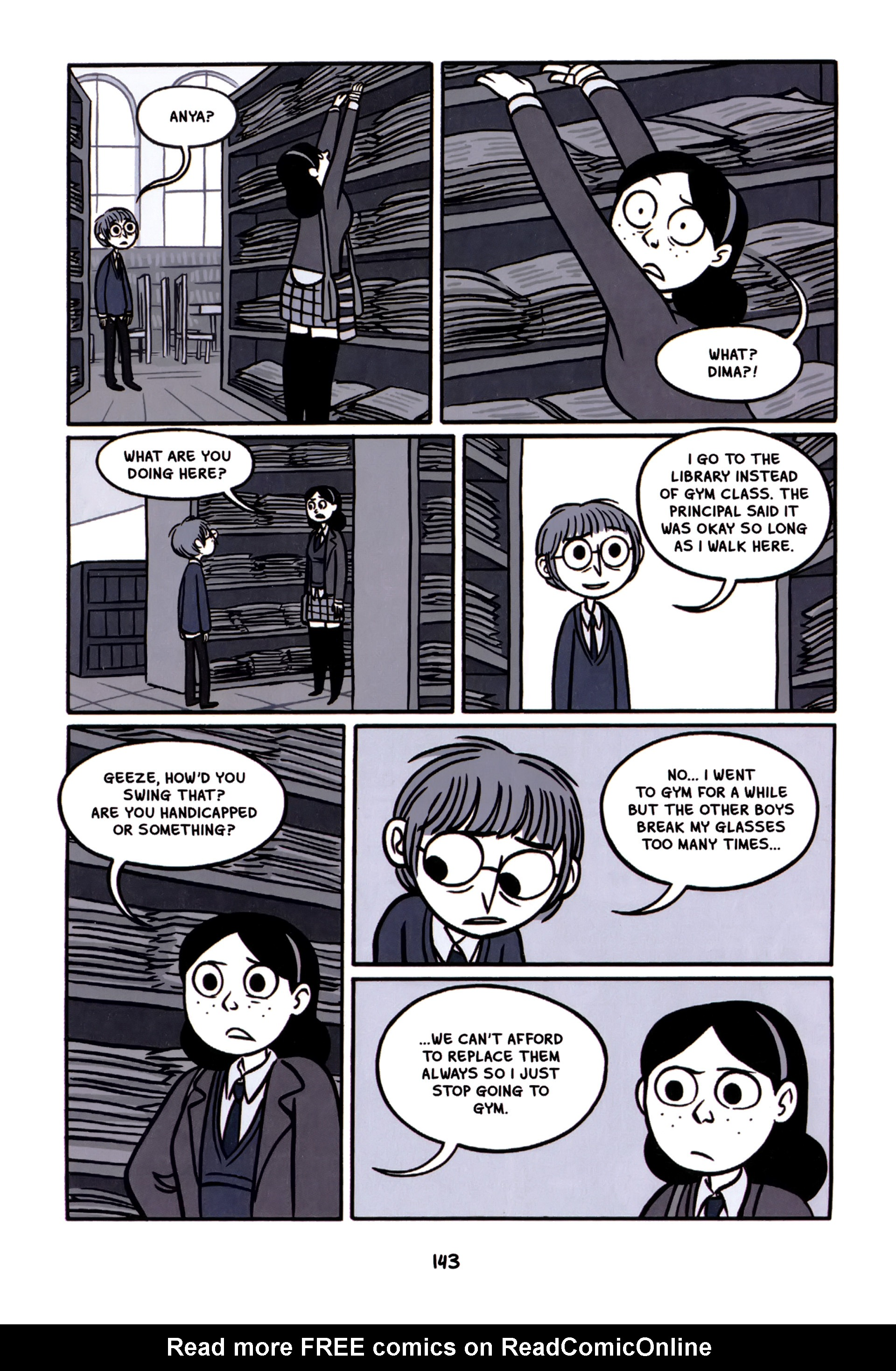 Read online Anya's Ghost comic -  Issue #1 - 144