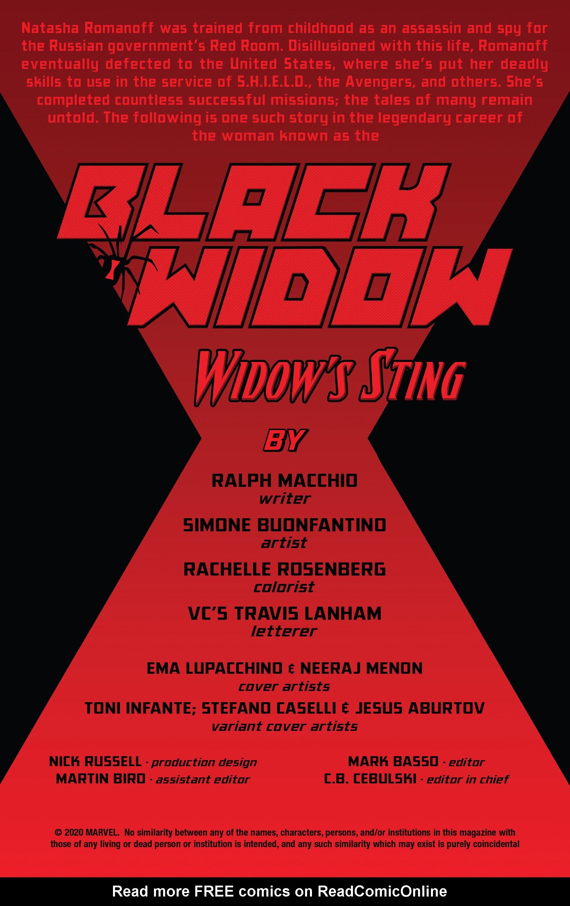 Black Widow: Widows Sting 1 Page 2
