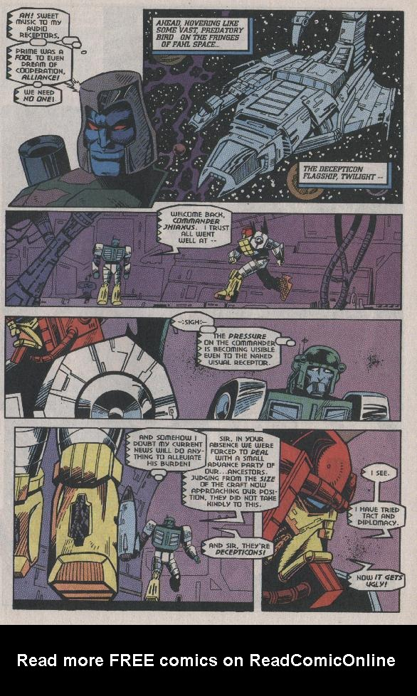 Read online Transformers: Generation 2 comic -  Issue #7 - 10