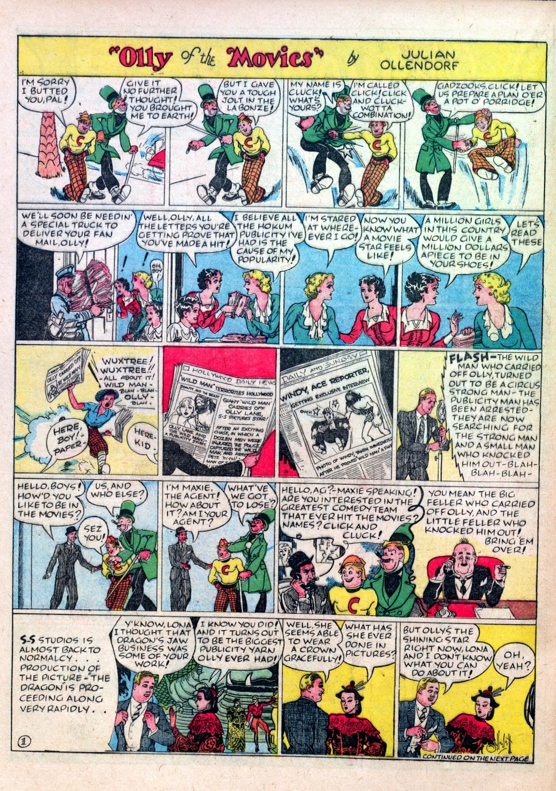 Read online Famous Funnies comic -  Issue #45 - 44