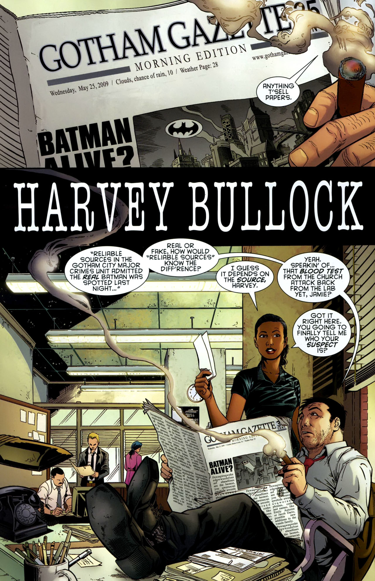 Read online Gotham Gazette comic -  Issue # Issue Batman Alive - 3