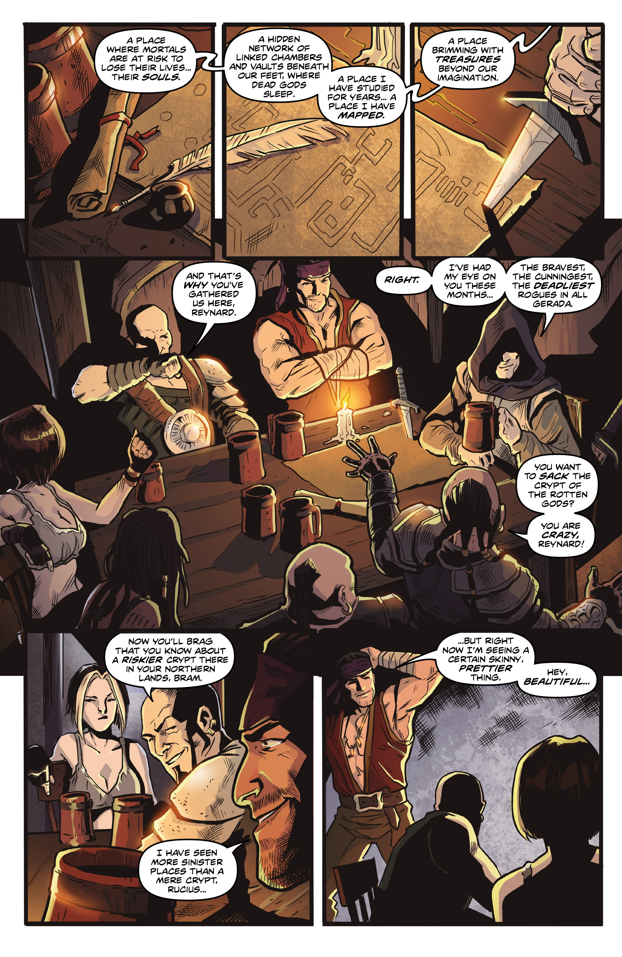 Read online Rogues!: The Burning Heart comic -  Issue #4 - 12