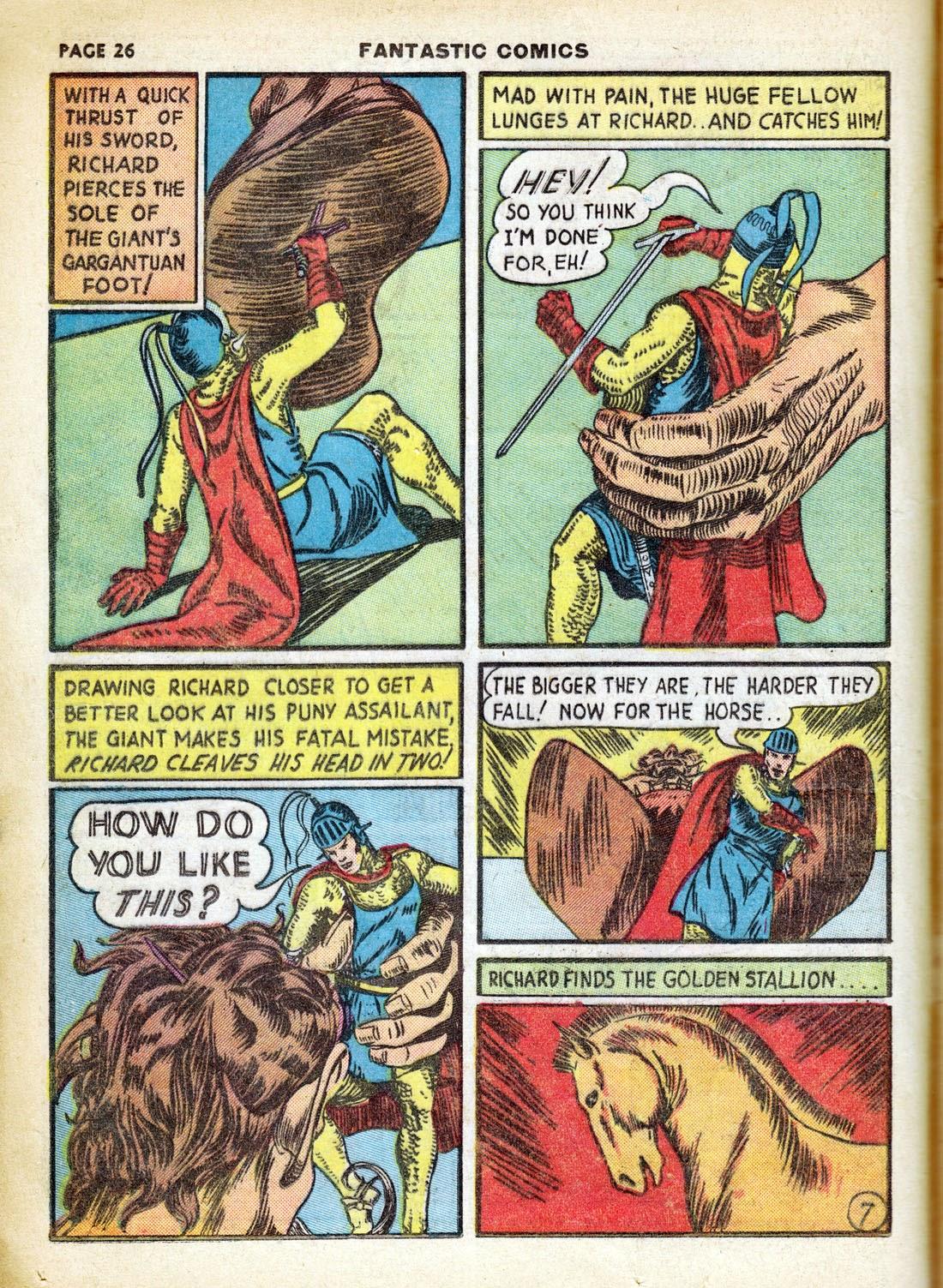 Read online Fantastic Comics comic -  Issue #7 - 28