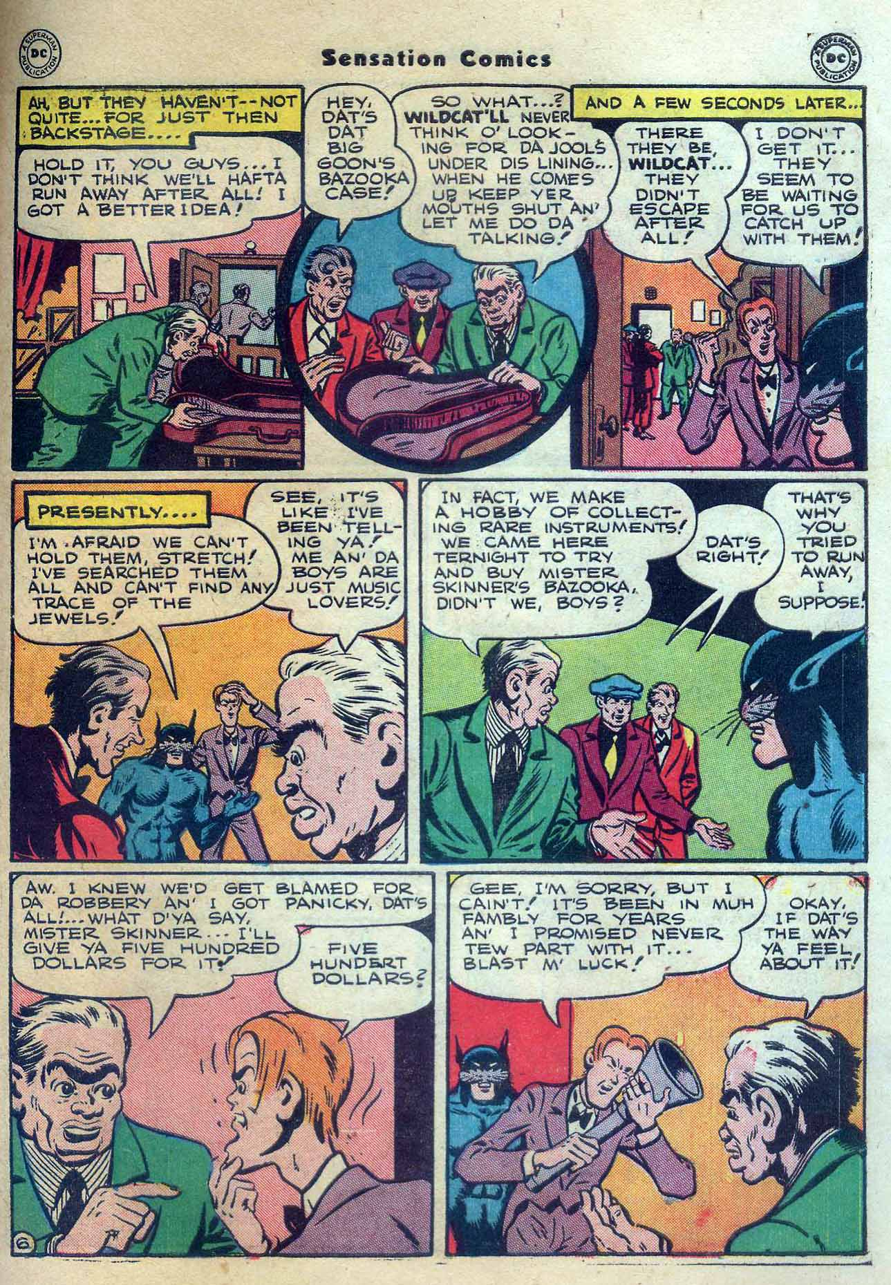 Read online Sensation (Mystery) Comics comic -  Issue #56 - 47