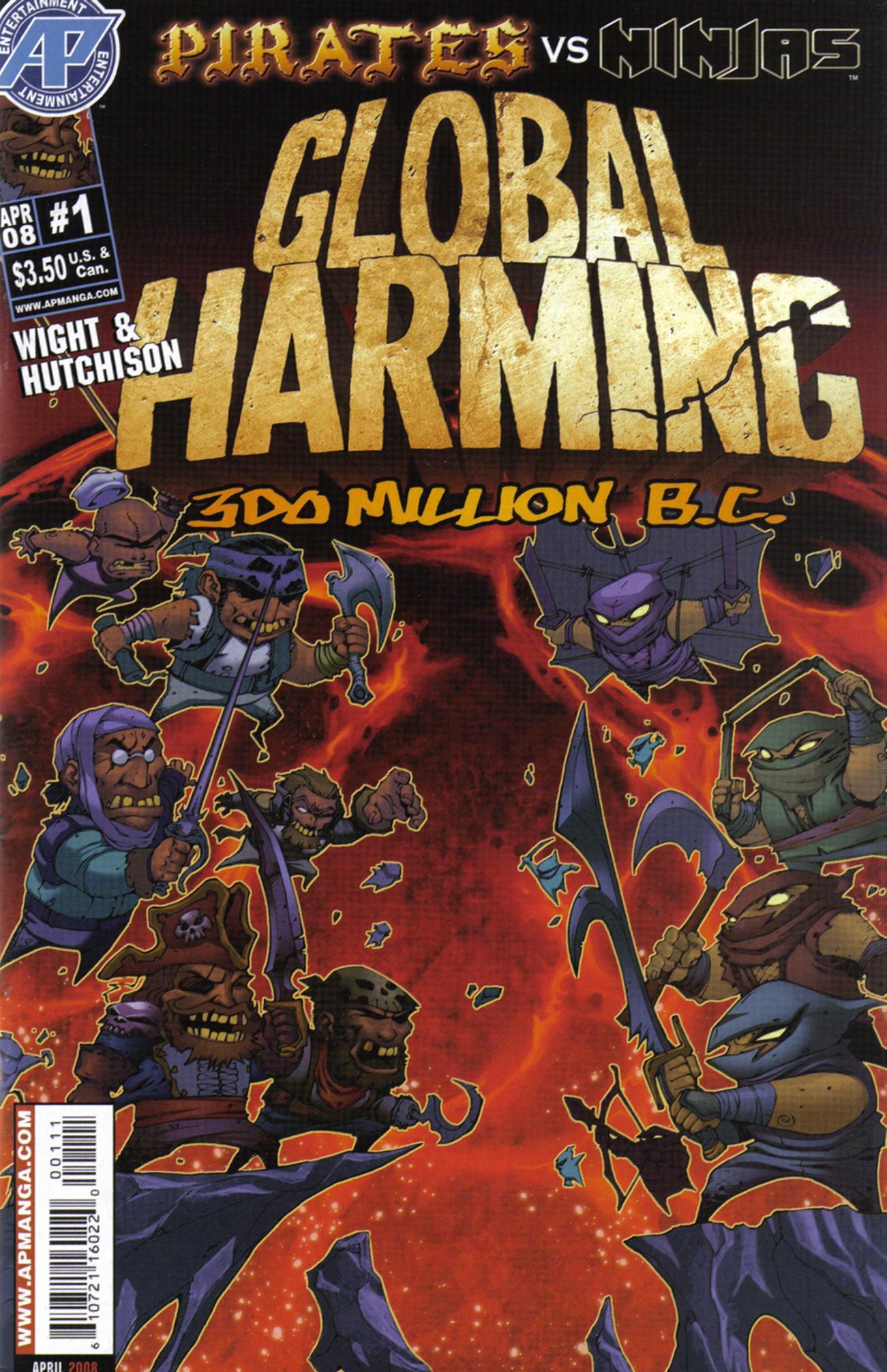 Read online Pirates vs. Ninjas: Global Harming comic -  Issue # Full - 1