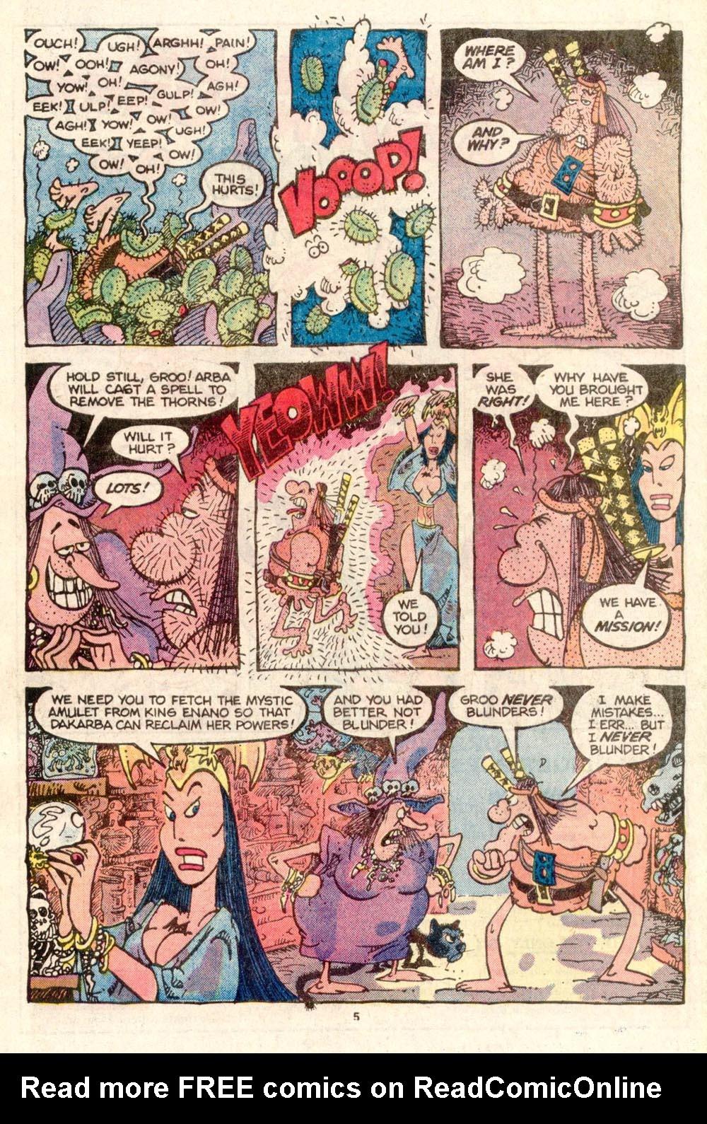 Read online Sergio Aragonés Groo the Wanderer comic -  Issue #26 - 5