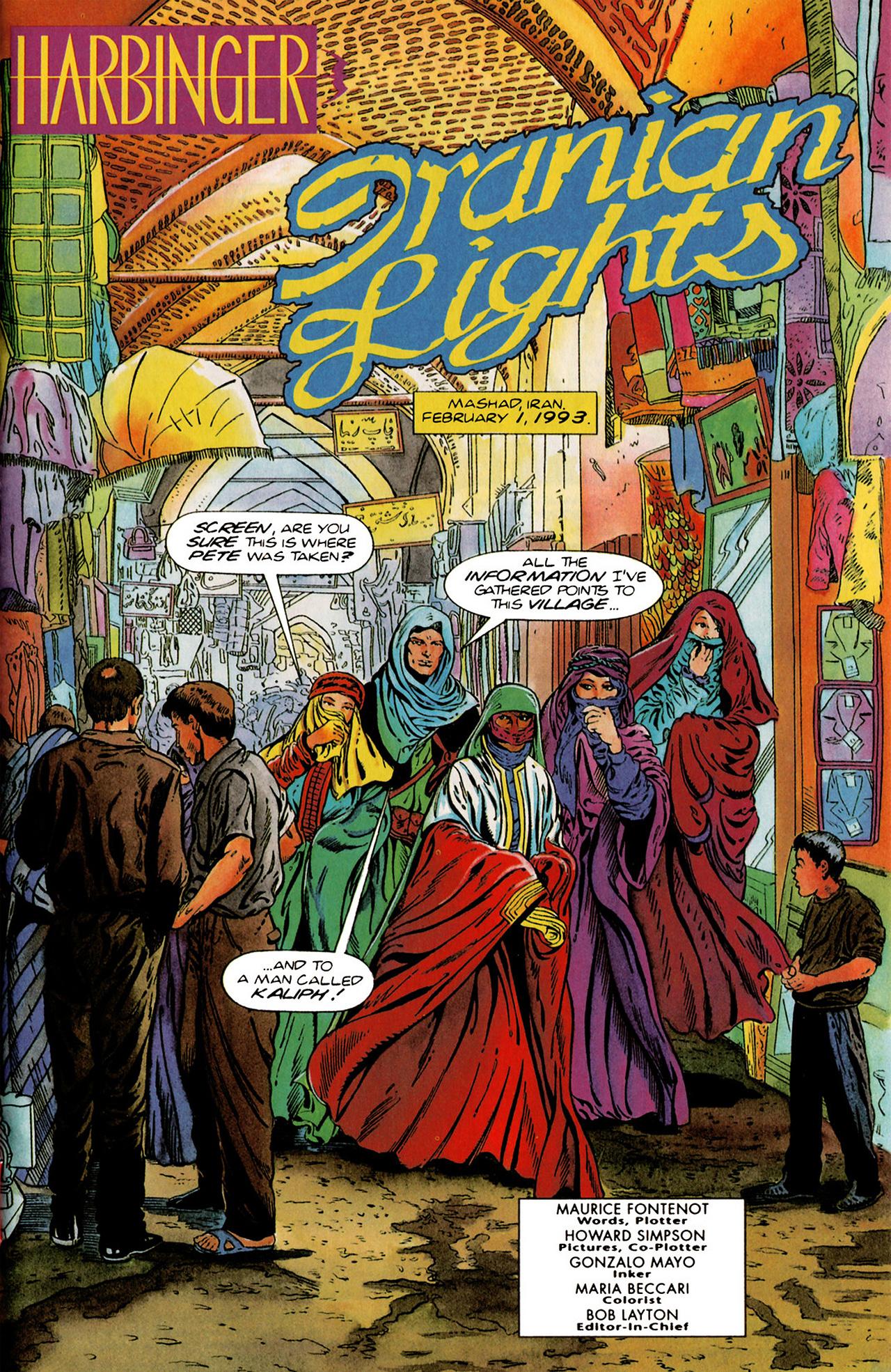Read online Harbinger (1992) comic -  Issue #20 - 2