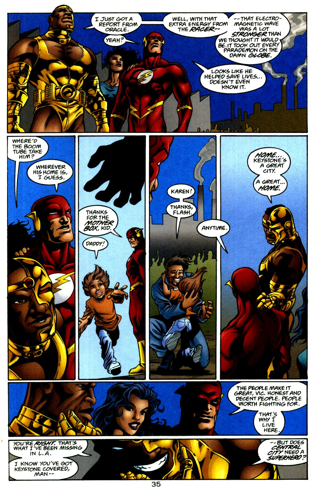 Read online The Flash: Our Worlds at War comic -  Issue # Full - 35