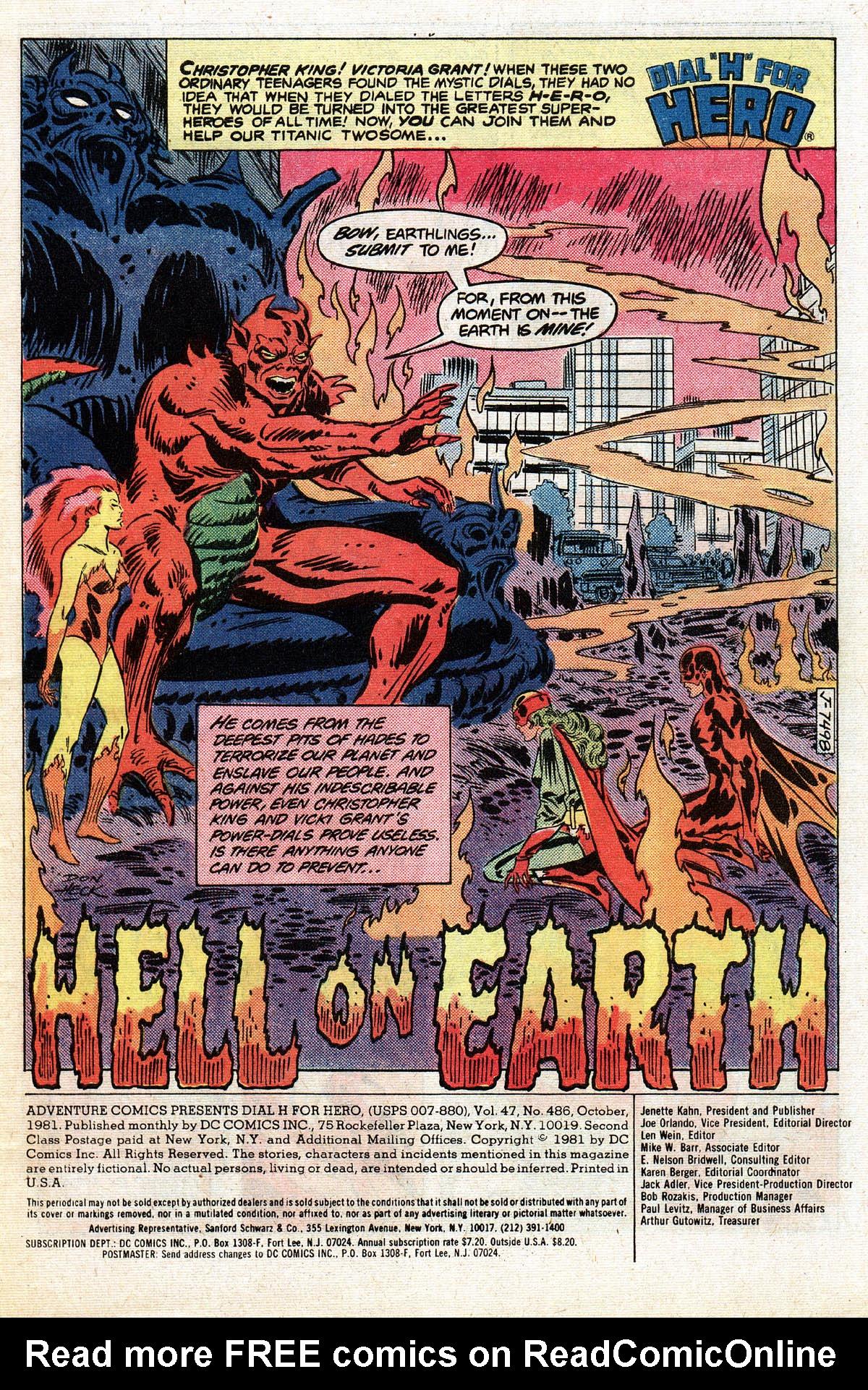 Read online Adventure Comics (1938) comic -  Issue #486 - 2