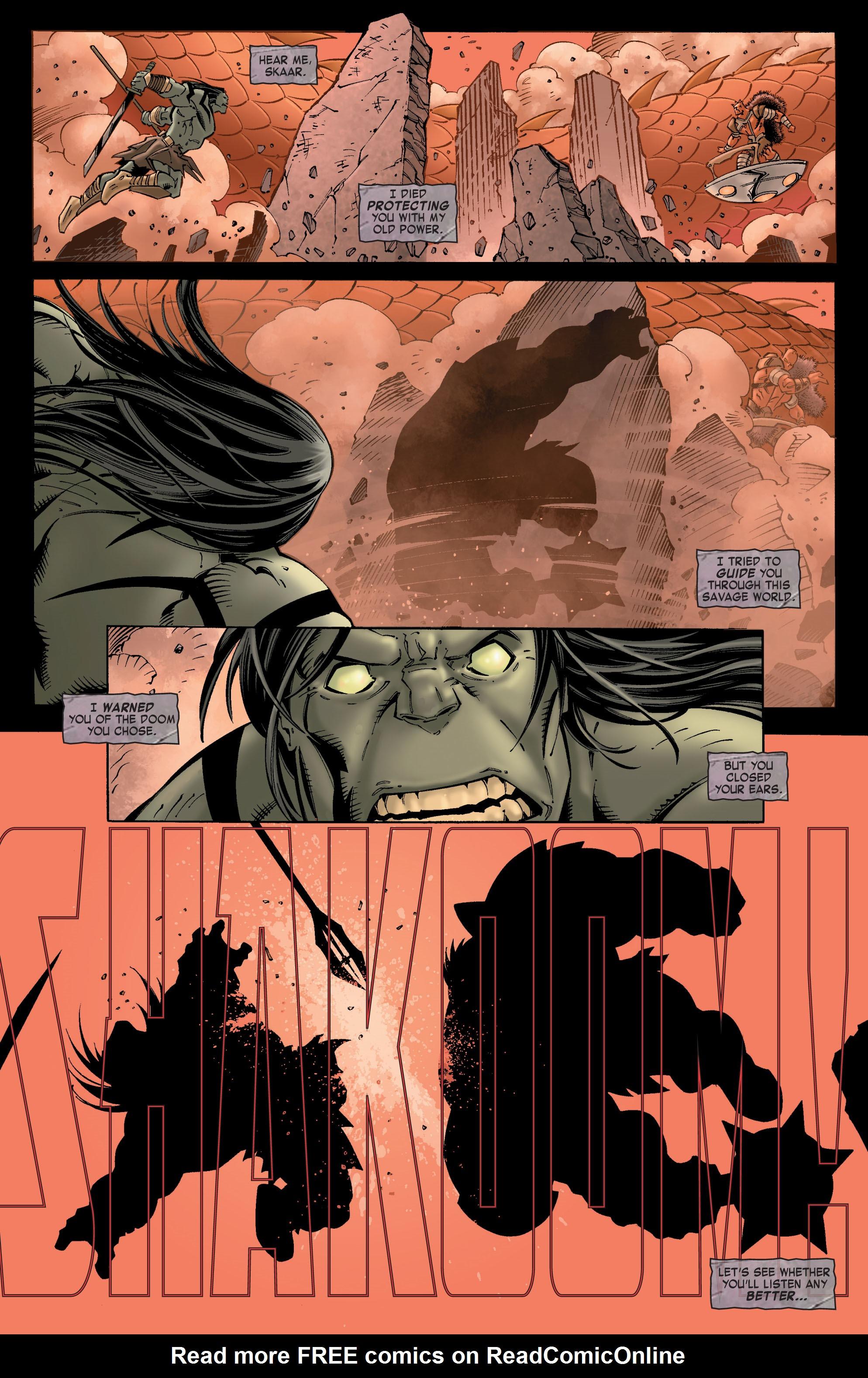Read online Skaar: Son of Hulk comic -  Issue #8 - 22