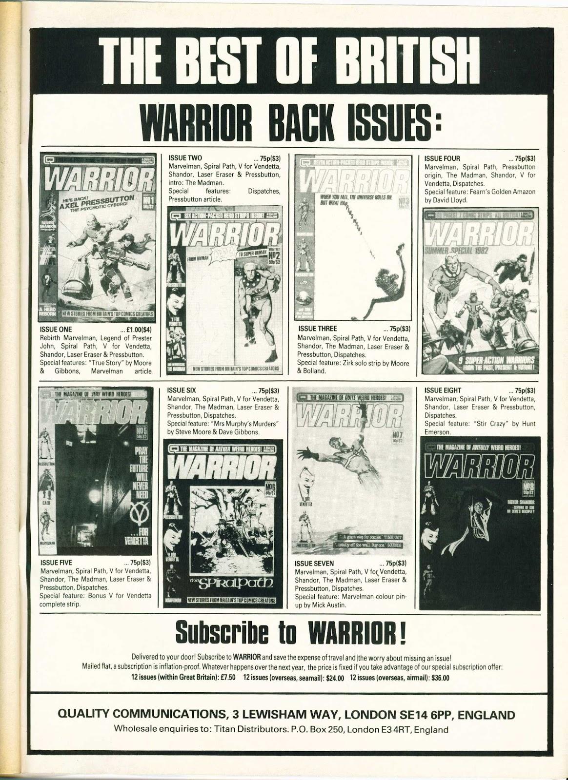 Warrior Issue #10 #11 - English 50