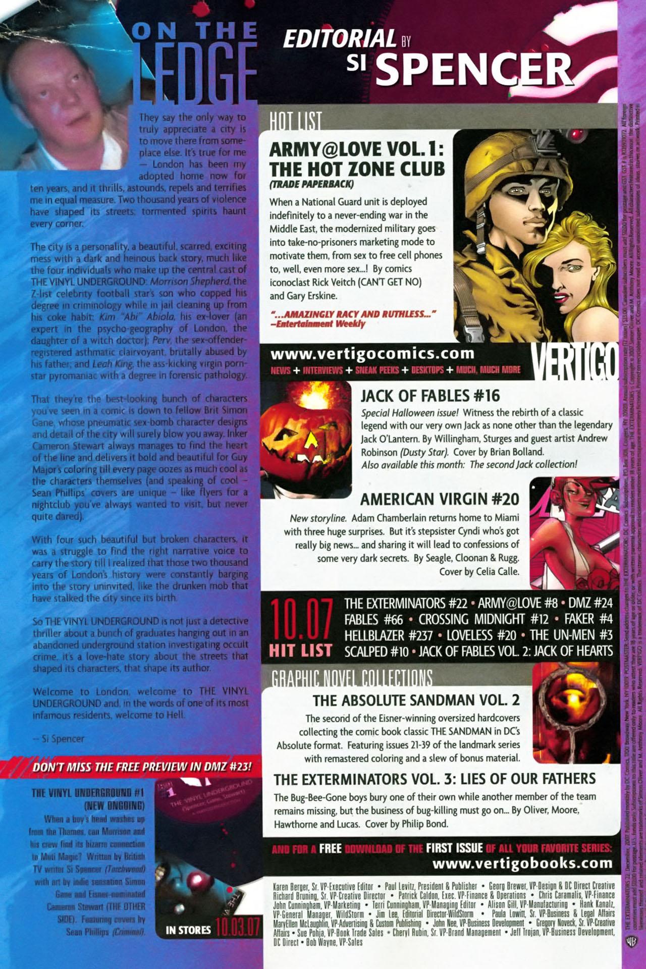 Read online The Exterminators comic -  Issue #22 - 24